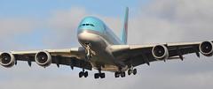 KE0907 ICN-LHR (A380spotter) Tags: landing approach arrival finals shortfinals belly airbus a380 800 msn0128 hl7622 대한항공 koreanair kal ke ke0907 icnlhr runway27r 27r london heathrow egll lhr