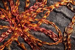 "Tissu indien. ""Macro Mondays"" - ""Cloth/Textile"" (jjcordier) Tags: macromondays clothtextile macro tisu indien fil tissage"