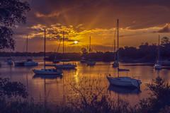 Safe Harbour (jenni 101) Tags: cyclonedebbie peaceful yachts australia nsw yamba sunrise
