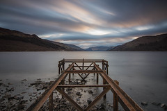 The Jetty (Katherine Fotheringham) Tags: loch earn scotland jetty mirror man four seasons hotel perthshire st fillans