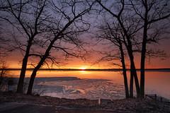 Sunrise at West Pine Dr (wiltsepix) Tags: higgins lake michigan west pine drive sunrise ice water