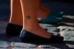 Tiny Star Tattoo Design On Ankle (tattoos_addict) Tags: tattoo star design tiny ankle startattoo startattoos