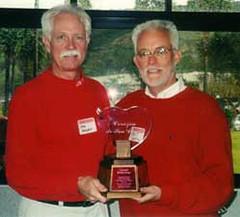 2001 Corazón de San Diego Recipient John Wertz with Tom Hedges