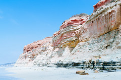 Pink (Jake Pfaffenroth) Tags: ocean pink beach landscape rocks pacific torreypines pacificocean clifs