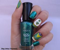 Unha para a Copa do Mundo! (@carolkardane) Tags: brasil do para nails mundo copa unhas 2014 pelcula esmalte