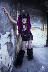Cybergoth (diegoherrerafotografo) Tags: street city trip light sky people black color macro art cars film girl leather fashion festival rock wall museum architecture night germany dark photography hotel photo dance model nikon punk industrial photographer shadows purple boots live gothic makeup dreads cybergoth cyberpunk ebm gothicgirl darkgirl