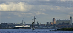Manannan leaving Liverpool (steeedm) Tags: ferry skyline port liverpool ship waterfront cathedral shipping isleofman mersey wirral newbrighton rivermersey manannan steampacketcompany
