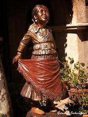 indian girl (Edward Saksenhaus RPh.) Tags: arizona sculpture metal work indian sedona nativeamerican