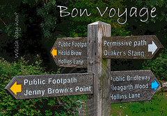 BON VOYAGE (MERLIN 27) Tags: signposts morecambebay whichwaynow bonvoyagegreetingscardwhichwaynow personalisedbonvoyagecard
