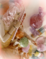 Sweet Dreams (sebthedog1) Tags: pink colour candy pastel lolly wig sweets