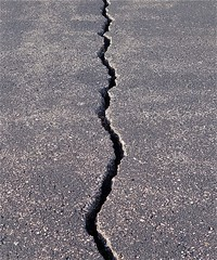 cracks divisions impermanance asphalt crevices quakes deanhochman fractures aging broken breaks fault earthquake rupture pavement insurance cement roads traffic streets weather climatechange instability movement age repair