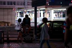 a couple (sinkdd) Tags: street japan tokyo nikon couple shinjuku taxi  nikkor  d800 streetsnap nikond800 afsnikkor85mmf18g