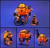 Water Goblin (Zachary Bean) Tags: water punk lego under hard suit diver sludge mecha cyber cyberpunk mech babel exoforce babriu