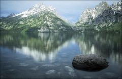Jenny Lake Reflection - Grand Teton National Park, Wyoming (helikesto-rec) Tags: lake reflection tetons