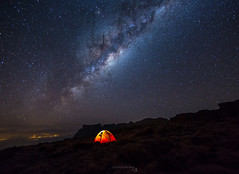 Camping Under the Milky Way (TheAstroShake) Tags: camping mountains canon southafrica amphitheatre tent milkyway drakensberg