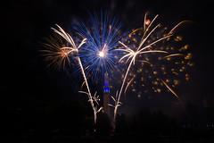 195/365 Pyrotechnie (Laure Borel) Tags: france colors grenoble fireworks celebration bastilleday 14juillet feudartifice 2014 canon1022mm ftenationale