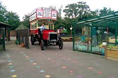 Arriving in the playground of Stoneydown Park Primary School, Walthamstow (London Transport Museum) Tags: bus london museum transport conservation restoration btype aec lgoc b2737