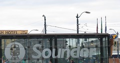 Sound Transit Sounder decal at King Street Station (zargoman) Tags: seattle railroad travel sign train logo display rail identity transportation transit commuter decal identification sounder soundtransit