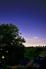 Night (alyrees) Tags: life street blue trees houses sky orange brown green nature night clouds speed stars photography photo aperture nikon long exposure natural tripod hill troopers neighborhood shutter dslr neighbourhood d3100