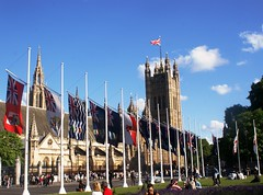 Parliament Flags (MJ_100) Tags: uk england building london westminster architecture flag housesofparliament parliament flags parliamentsquare commonwealth palaceofwestminster