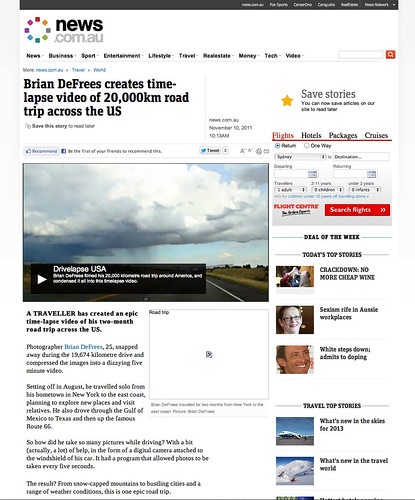 """News_Australia_Road_Trip_Travel_Timelapse_Drivelapse_DeFrees_Productions • <a style=""""font-size:0.8em;"""" href=""""http://www.flickr.com/photos/20810644@N05/14840789327/"""" target=""""_blank"""">View on Flickr</a>"""