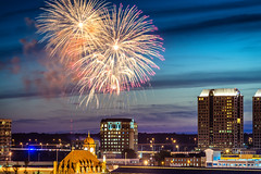Skyline Celebration (Sky Noir) Tags: longexposure travel usa photography virginia fireworks richmond celebration va 4thofjuly 804 rva skynoir