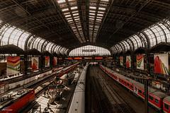 Hamburg Hauptbahnhof (RobMenting) Tags: railroad station train germany lights technology hamburg transport tracks rail trains communication boxcar splint railroadcar