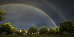 Colorful Storm (Noah J Katz) Tags: light storm rain weather dark rainbow colorado colorful arc boulder njkphotography