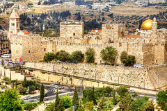 Jerusalem_Old City Walls_1_Noam Chen_Jerusalem (Israel_photo_gallery) Tags: city history archaeology wall architecture israel jerusalem religion churches leisure recreation walls oldcity mosques noamchen