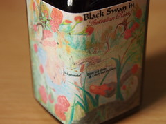 Noodler's Black Swan in Australian Roses - Close Up