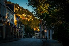 Streets of Bergen. (Paulius Bruzdeilynas) Tags: street city trees houses sunset sky house norway norge norwegian shade bergen