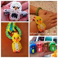 rainbow-loom-owl-charm-F.w (Wonderful DIY) Tags: diy rainbow charm owl loom