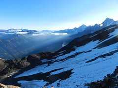 On the descent from Tte Rousse (ramblingjohn) Tags: france alps alpes adventure ke mountaineering mont blanc hautesavoie