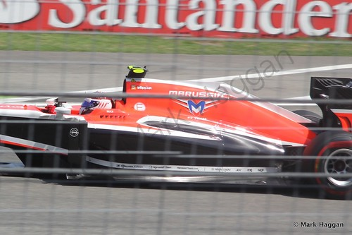 Max Chilton in qualifying for the 2014 German Grand Prix