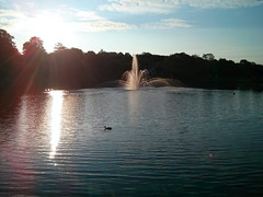 fountain after sunrise (thomas.erskine) Tags: summer sun fountain nova pond ns aug scotia dartmouth sullivans 2014 20140808 071841declab