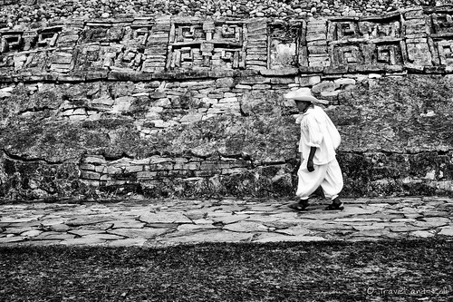 From flickr.com: .Old man and ancient stones. {MID-324759}