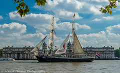 Mercedes DSC_6230.jpg (Sav's Photo Gallery) Tags: uk sky london water river landscape mercedes flag capital greenwich sails sunny sail riverthames tallships greenwichnavalcollege tallshipsfestival d7000 savash greenwichmartime