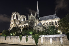 Notre Dame at Night (JoshJackson84) Tags: longexposure paris france architecture night lights europe ledefrance cathedral notredame sigma1020mm canon60d