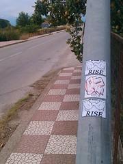 Rise one sticker combo!!... (RiseOne/GrEEcE!) Tags: street streetart art square graffiti design stickers greece squareformat rise graffititag