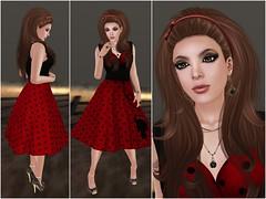 The Lady in Red (TinLiz_WinterStorm) Tags: red fashion lady truth dress avatar mg sl rings nails lolita secondlife bracelets mock slink thewash sntch slfashion appliers cartsale maxigossamer lumae