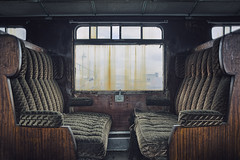 End of the Line (Subversive Photography) Tags: detail abandoned window train ruins carriage decay transport atmosphere journey urbanexploration seats ornate derelict urbex fadeaway grandeur degraded danielbarter