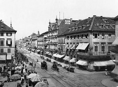 1890. Kaiser Strasse in Karlsruhe, Baden, Germany (Static Phil) Tags: history germany karlsruhe 1890 kaiserstrasse kaiserstrase karlsruhebaden kaiserstrasekarlsruhe karlsruheib altkarlsruhe