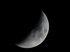 Half Moon (Todd Marzano) Tags: moon zoom sony super craters crater photostream hx50 hx50v