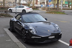 Porsche 911 Carrera S Cabrio (type 991  ZH-418-199) (Transaxle (alias Toprope)) Tags: auto road street city urban black streets cars sports beauty car sport germany schweiz switzerland avenida calle amazing nikon downtown strada power swiss unique zurich snapshot wheels engineering super voiture exotic german coche porsche soul carros boxer carro snapshots autos af zrich nikkor streetcar rue kerb curb eleven macchina rare supercar coches spotting germanengineering sportscar voitures februar toprope supercars kerbs curbs nineeleven streetcars 2014 blackcar macchine 28105mm elfer sportcars d90 9car blackcars 13545d d90af 9sport