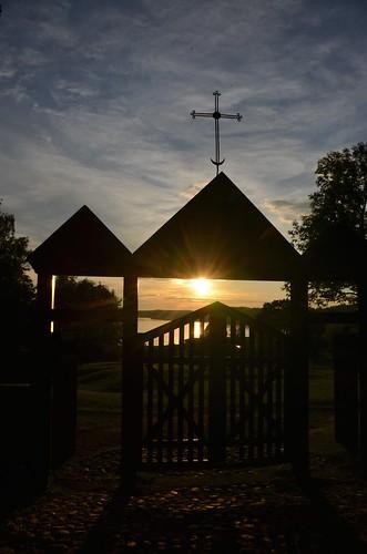 Palūšė Church Gate