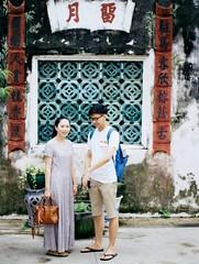 Boy & Girl (Tsehao Chen) Tags: kodak macau backpacker nikonfm benchen barratemple adventurejourney tsehaochen