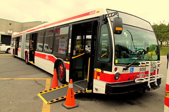 TTC Hillcrest Open House (wyliepoon) Tags: toronto bus shop ttc accordion transit harvey facility duncan articulated hillcrest bendy