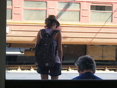 traveller (green.kami) Tags: road train traveller rails