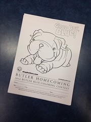 """It's Homecoming week at @butleru! That means it's coloring contest time! Boys & girls of all ages welcome! • <a style=""""font-size:0.8em;"""" href=""""http://www.flickr.com/photos/73758397@N07/15322557741/"""" target=""""_blank"""">View on Flickr</a>"""