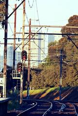 Northcote train station (Melbourne Streets Avant-garde) Tags: city station melbourne signals stop rails northcote
